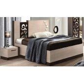 Кровать Мастер Форм Сага 1450х2100х1100 мм венге темный/дуб молочный