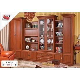 Стенка для гостиной БМФ Линда 3320х2130х570 мм орех Италия
