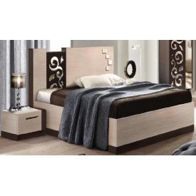 Кровать Мастер Форм Сага 1650х2100х1100 мм венге темный/дуб молочный