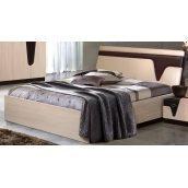 Ліжко Майстер Форм Ар'я 1650х2130х1040 мм венге темний / дуб молочний