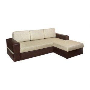 Диван угловой Мебель Прогресс Юпитер 2390x1590x890 мм коричневый
