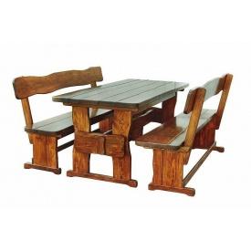 Средний комплект мебели из натурального дерева для кафе 1200х800 мм