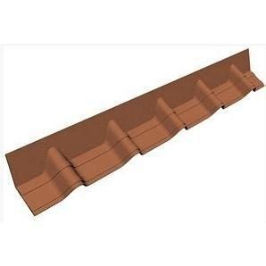 Покрівельній фартук Onduvilla 1020х140 мм коричневий 3D