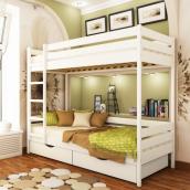 Кровать двухъярусная Эстелла Дуэт 107 80x190 см щит