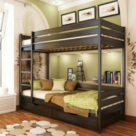 Ліжко двоярусне Естелла Дует 106 80x190 см масив