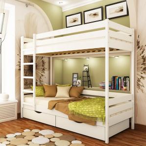 Ліжко двоярусне Естелла Дует 107 80x190 см масив