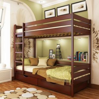 Кровать двухъярусная Эстелла Дуэт 104 90x200 см массив