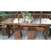 Комплект дерев'яних меблів для альтанки