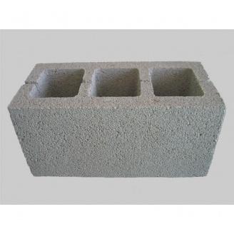 Блок з гранітного відсіву вібропресований ALEX Group 100х200х400 мм сірий