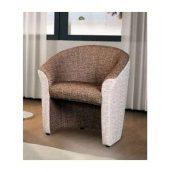 Кресло мягкое Мебель Прогресс Бавариус 730x630x810 мм серо-коричневое