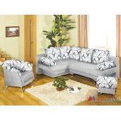 Угловой диван Модерн Лорен 2350х710х1690 мм Атланта земин 09 Р03+Лачин 1003