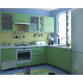 Кухня СОКМЕ София Люкс 2 м без столешницы салатовая