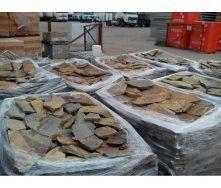 Тротуарный камень ALEX Group Закарпатский андезит 5 см оливково-коричневый