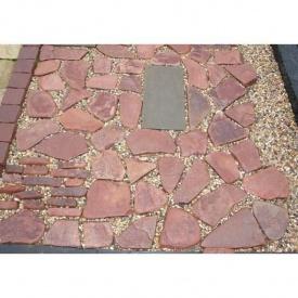 Тротуарный камень ALEX Group Песчаник 5 см красный