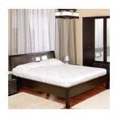 Кровать двойная БМФ Орфей КТ-712 950х1500х220 мм золота лоза / венге темный
