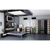 Спальня Мебель-Сервис София со шкафом на 3 двери венге темный-венге светлый