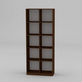 Книжкова шафа Компанит КШ-2 2056x836x360 мм горіх еко