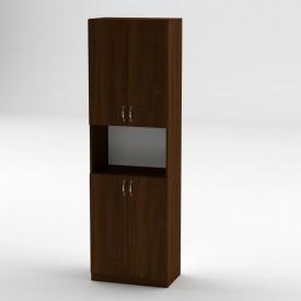 Книжный шкаф Компанит КШ-5 1950x600x366 мм орех экко