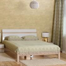 Кровать дввойная БМФ Магнолия КТ-713 1000х1700х2200 мм белый перламутр/акация