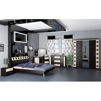Спальня Мебель-Сервис София 4Д венге темное-светлое