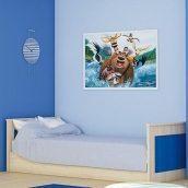 Ліжко Меблі-Сервіс Денді 646х1000х2076 мм береза/синій