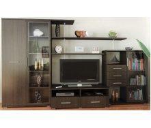 Гостинная Мебель-Сервис Нео-4 1820х3150х588 мм венге темный