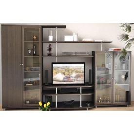 Гостинная Мебель-Сервис Рио-4 1706х2700х550 мм венге темный