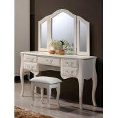 Будуарный столик Domini Богемия 1215х430х760 мм античный белый