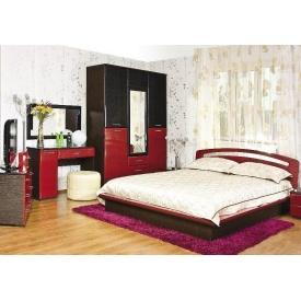 Спальня БМФ Верона 1500х2060х530 мм лілія червона / чорна лак / венге темний