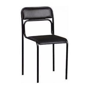Офисный стул АМF Аскона Кожзам черный 470х490х810 мм черный лак
