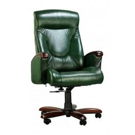 Крісло AMF Галант DT шкіра Люкс авокадо 72x71x117 см горіх