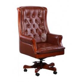 Крісло AMF Лінкольн DT шкіра Люкс коричнева 75x75x127 см