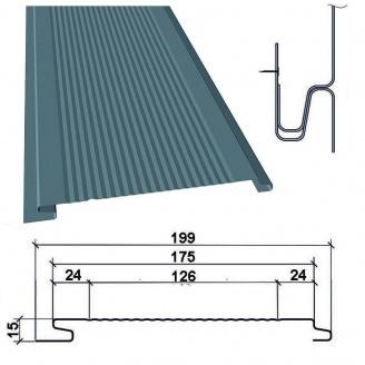 Сайдинг фасадный металлический ТермаSteel Вертикальный с микрорибером 175 мм