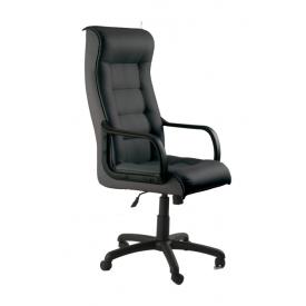 Кресло AMF Роял Пластик кожа Сплит черная 63x81x120 см