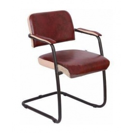 Офисный стул AMF Гранд Мадрас Бордо отд. Неаполь N-17 585х620х780 мм черный лак