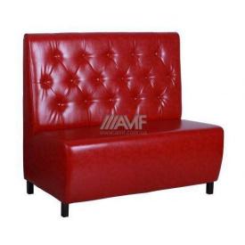 Диван AMF Сити Лаки красный 1200х670х1100 мм на ножках венге