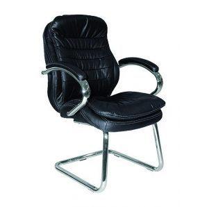 Кресло AMF Валенсия CF кожа черная 63x68x105 см хром