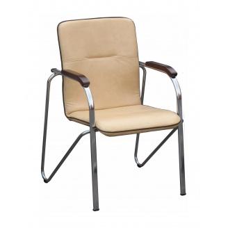 Офісний стілець AMF Самба горіх Неаполь N-17 з кантом 610х615х890 мм хром