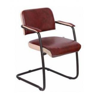 Офісний стілець AMF Гранд Мадрас Бордо отд. Неаполь N-17 585х620х780 мм чорний лак