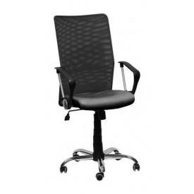 Офісне крісло AMF Аеро HB Line сидіння Сітка чорна Неаполь N-20 / спинка Сітка чорна 650х650х1170 мм