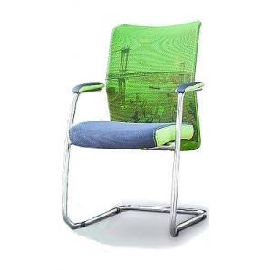 Офисное кресло AMF Аэро сиденье Сетка серая/спинка Сетка лайм 520х570х920 мм хром