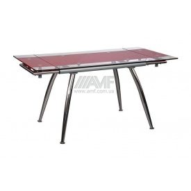 Стіл обідній AMF B 179-3 1070x800x750 мм червоний
