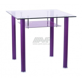 Стол обеденный AMF Рио 800х800х750 мм фиолетовый