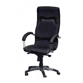 Крісло AMF Ніка HB шкіра Люкс чорна 64x69x125 см хром