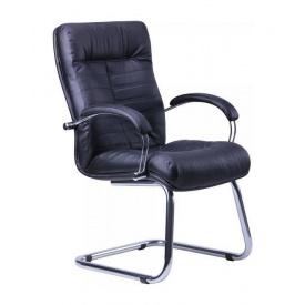 Кресло AMF Орион CF кожа Сплит черная 61x72x103 см хром