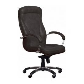 Крісло AMF Хюстон MB шкіра Спліт чорна 67x82x120 см хром