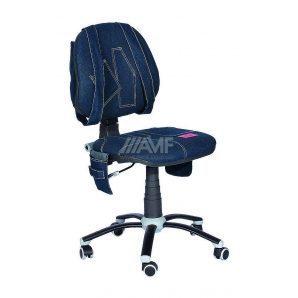 Детское кресло AMF Джинс 620x620x880 мм синий