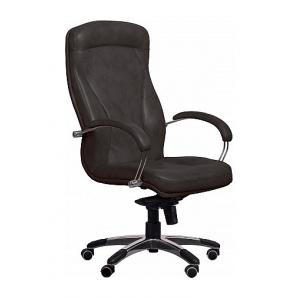 Кресло AMF Хьюстон MB кожа Сплит черная 67x82x120 см хром