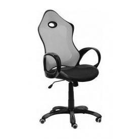 Крісло AMF Матрикс-1 сітка чорна/сітка сіра 69x76x113 см чорний