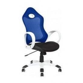 Крісло AMF Матрикс-1 сітка чорна/сітка синя 69x76x113 см білий